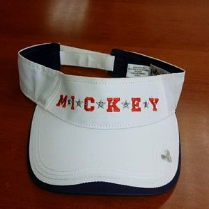 Disney Mickey Mouse Visor White Adjustable Velcro